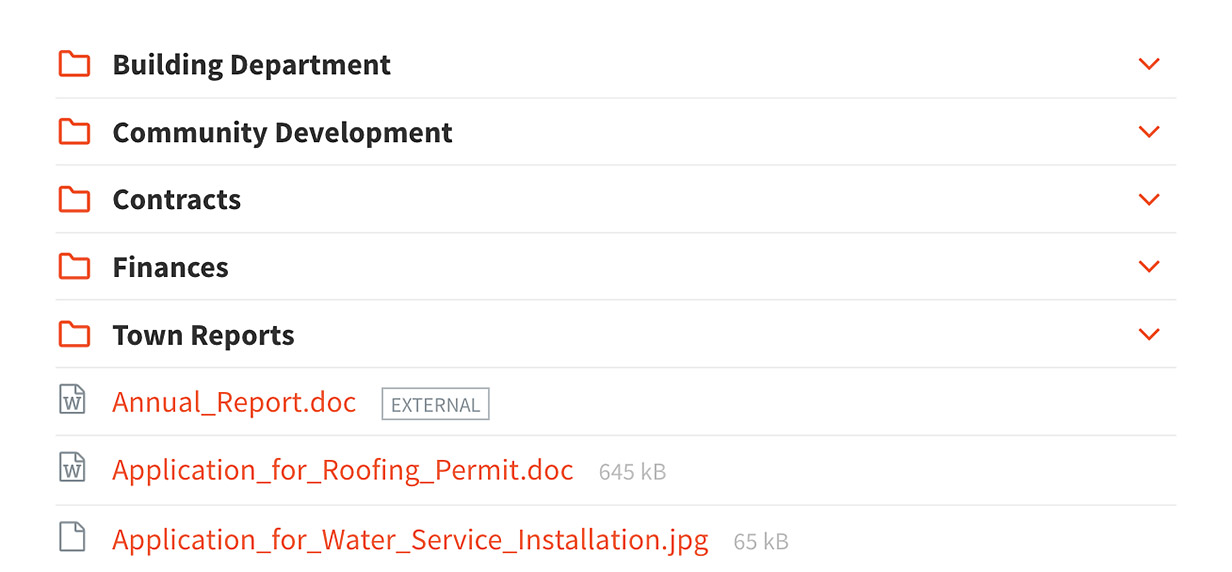 Documents - You can provide access to both local attachments that are uploaded into your WordPress installation and external links.